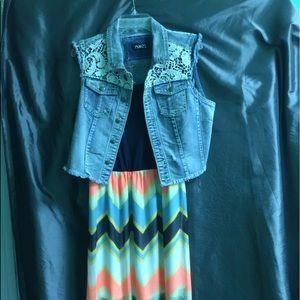 Same Dress with denim vest